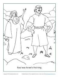 Small Picture Saul Was Israels First King Coloring Page Childrens Bible