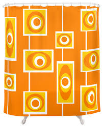 retro shower curtain. Full Size Of Curtains: Retro Shower Curtain Curtains Contemporary Crash Pad Designs Orange Flowers View R