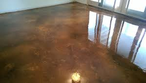 Stained Concrete Kitchen Floor Acid Stain Concrete Basement Floor W Epoxy Seal Coat Lake Of The
