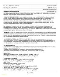 Air Force Military Resume Updated Usajobs Resume Example Beautiful