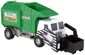 How Does A Trash Compactor Work Amazoncom Tonka Mighty Motorized Garbage Ffp Truck Toys Games