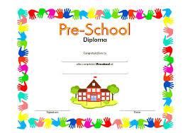 Template For Certificates For Preschool Preschool Certificate
