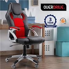 crazy office chairs. overdrive executive deluxe pu leather racing office chair crazy chairs