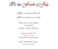 4th of july party invitations wording 1