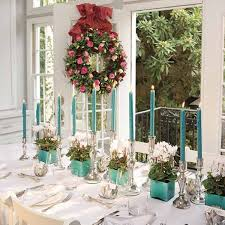 cyclamen christmas table decorations