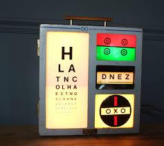 Vintage Eye Chart Light Box Pin On Lightbox