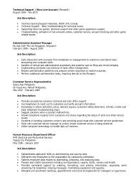 Administrative Duties Resumes Office Assistant Description Administrative Tasks For Resume Duties