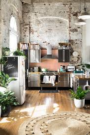 Home Kitchen Gravity Home Kitchen With Exposed Brick In A Warehouse Apartment