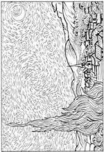 Sterrennacht Van Gogh Kleurplaat Umsetzungen Zu Van Gogh