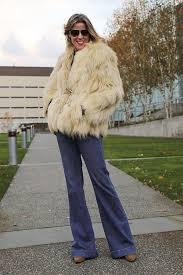 fur coat thrift dailylook jeans dkny blouse vest vintage thrift nine west boots coach bag fur coat22 2001