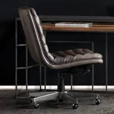 leather home office chair. Wyatt Home Office Mid-Back Leather Chair