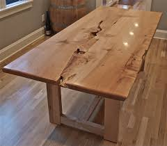 maple wood dining room table. live edge maple table with wood base dining room r