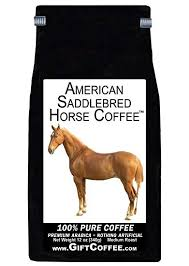 american saddlebred horse gift coffee gourmet decaffeinated ground gift coffee 12 ounces