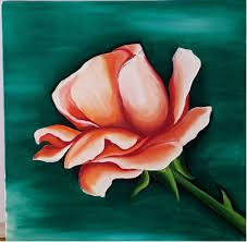rose 2018 painting 12x12 in