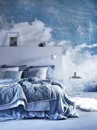 Slaapkamer Blauw Wolken Blauw Wandgestaltung Schlafzimmer En