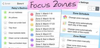 Zone Cleaning Chart For Kids Homeroutines App