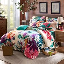 twin full queen size 100 cotton bohemian boho style fl bedding sets girls comforter sets