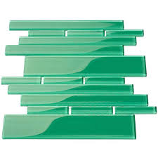 club random sized glass mosaic tile in emerald green tiles uk