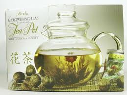 details about primula blossom 40 oz glass teapot gift set includes infuser 12 flowering teas