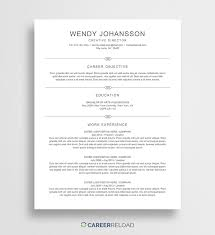 Free Entry Level Resume Template Wendy Career Reload