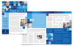 Newletter Formats Technology Consulting It Newsletter Template Design