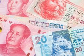 Rmb To Hkd Chart One Dollar And Yuan Renminbi China Currency Banknotes Close