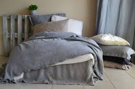 pure linen duvet cover dove grey stonewashed heavy weight et rysehy 8158