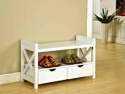Image of: White Entryway Shoe Storage