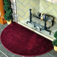 fire resistant rugs flame 4 half round polyester fireplace rug crimson fireproof ant hearth uk crimso