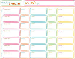 Babies Menu Planner 46 Free Printable Menu Template Free Printable Weekly Menu Planner
