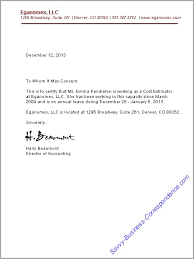 Letter Of Employment Verification Gplusnick
