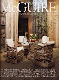 mcguire furniture company. McGuire Furniture AD 1992, Stinson Beach. Mcguire Company N