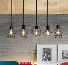 2019 retro wrought iron small pendant lighting led creative bedroom single head lamp simple meal chandelier living room a791 from fyfavon123