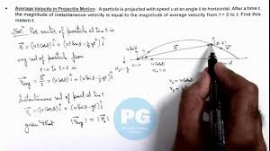 class 11 physics kinematics average velocity in projectile motion by ashish arora
