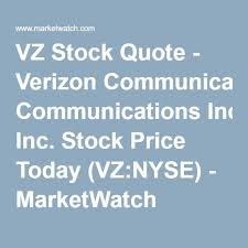 Vz Stock Quote Simple VZ Stock Quote Verizon Communications Inc Stock Price Today VZ