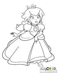 Inspirational Peach And Mario Coloring Pages Doiteasyme
