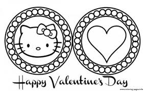 Printable free hello kitty coloring sheets for kids to enjoy the fun of coloring and learning while sitting at home. Cute Hello Kitty Valentines Day Scb28 Coloring Pages Printable