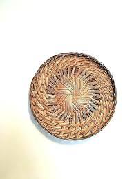 rattan wall decor woven basket hanging metal wicker target art like