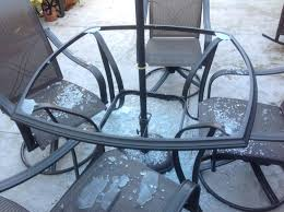 patio table replacing broken glass top with wood replacement
