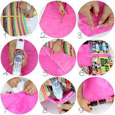 no sew rag rug pillows step 2