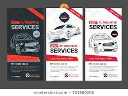 Auto Repair Flyer Auto Repair Flyer Stock Vectors Images Vector Art