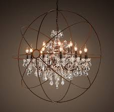 chandelier amazing crystal globe appealing within large designs 13