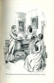 jane austen as a source for eighteenth century and regency women hugh thomson s illustration of a scene from sense and sensibility