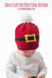 Santa Hat Pattern Fascinating Baby Santa Suit Hat KNITTING PATTERN Santa Hat Pattern Etsy