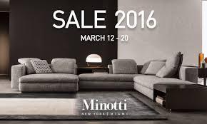 minotti quickship minotti sale 2016