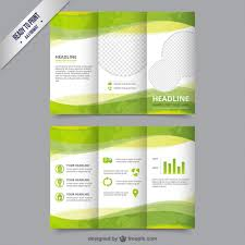 Downloadable Brochure Templates Eco Brochure Template In Green Color Vector Free Download