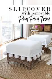 Make This Fun And Flirty Pom Pom Trim For A Slipcover. The Pom Poms Are