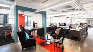 industrial office lighting. colorful office in atlanta shines with industrial lighting 1 style