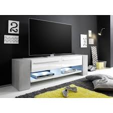 white tv stand.  White Time  White TV Stand With Stone Imitation Legs To Tv