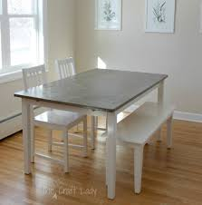 White Wood Kitchen Table Sets Diy Concrete Dining Table Top And Dining Set Makeover The Crazy